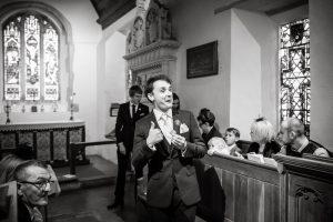 Happy Groom - Suffolk Wedding
