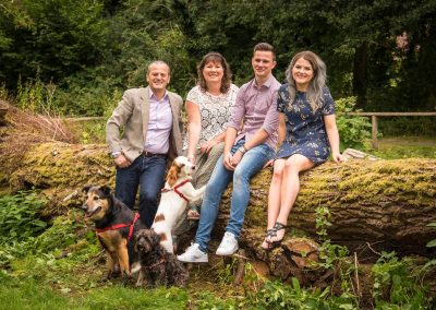 Natural Outdoor Family Portrait in Suffolk