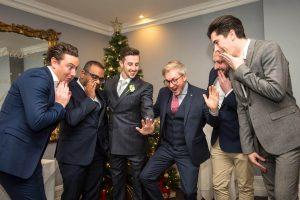 Wedding Slider - Groomsmen Laughing