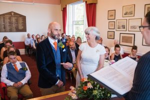 bride and groom wedding ceremony at felixstowe town hall