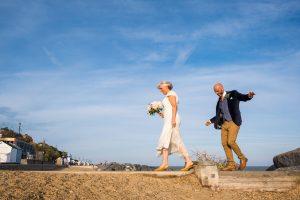 bride and groom felixstowe beach